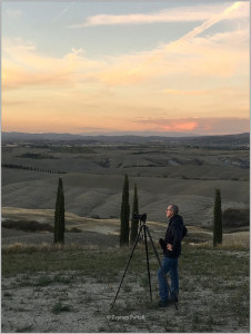 Vieri at work in Tuscany, Italy